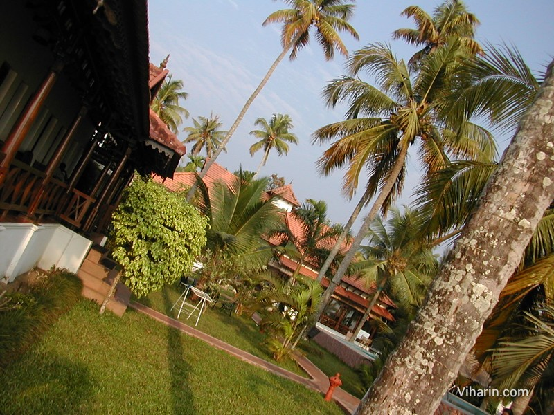 Garden at Cocobay resort, Kumarakom, Kerala- India