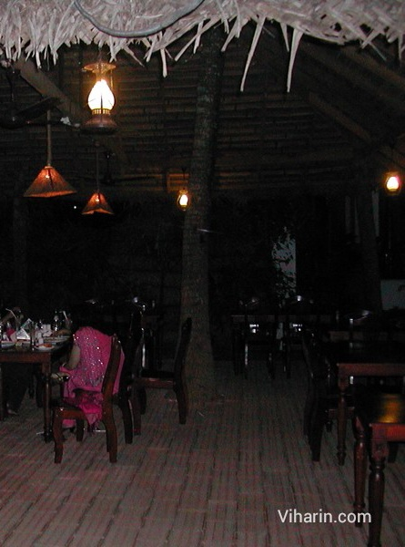 Restaurant at Cocobay resort, Komarakom,Kerala India
