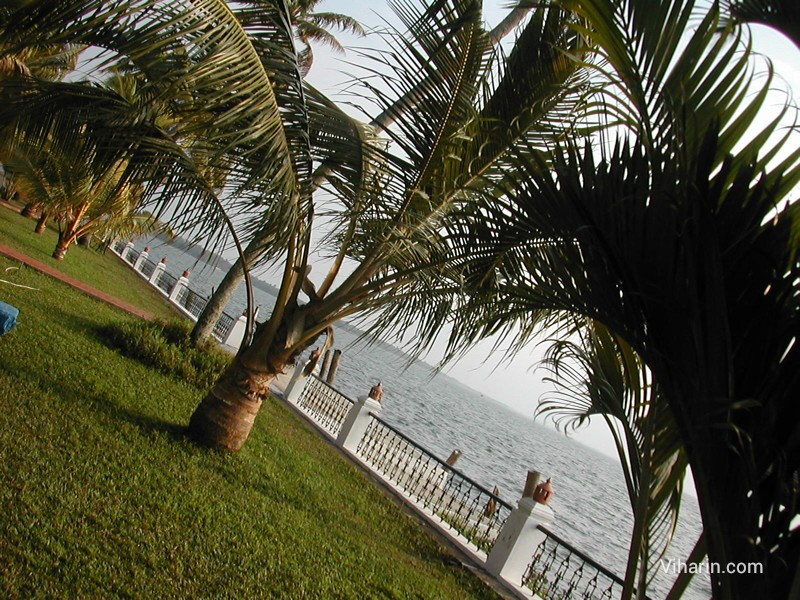Viharin.com-View of Vembanad lake from garden of Cocobay resort, Kerala- India
