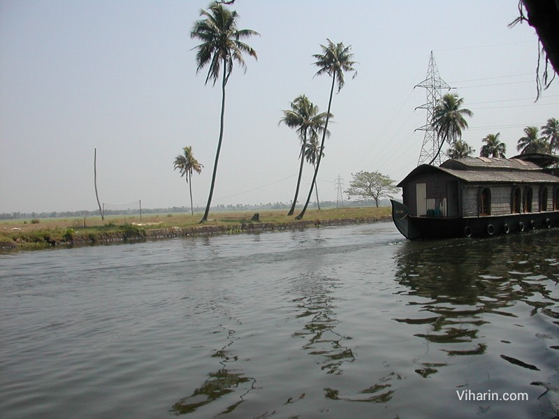 Viharin.com-Houseboat by passed our houseboat at Alleppey
