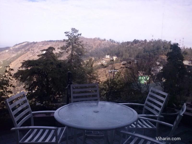 Viharin.com- Sit out and view from Royal Himalayan Club, Naldehra