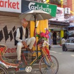 Viharin.com- Rikshaw standing in the market