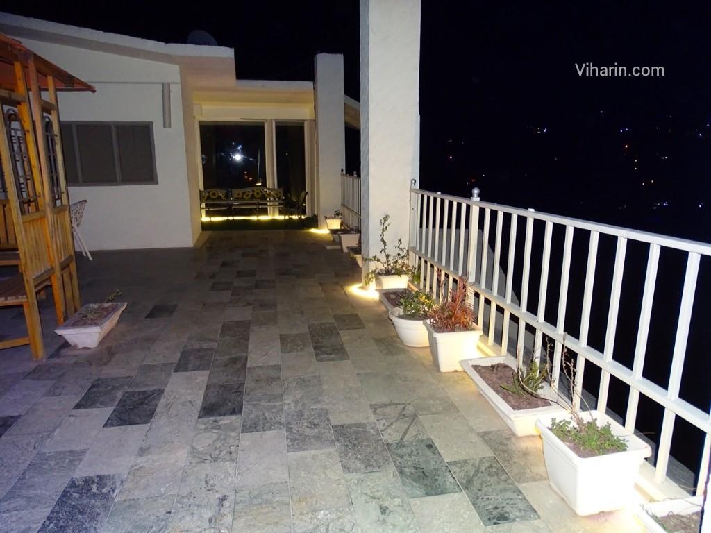 Viharin.com- Roof top terrace at night