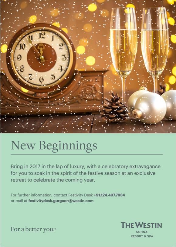 New Year Celebrations @ Westin Sohna Resort and Spa