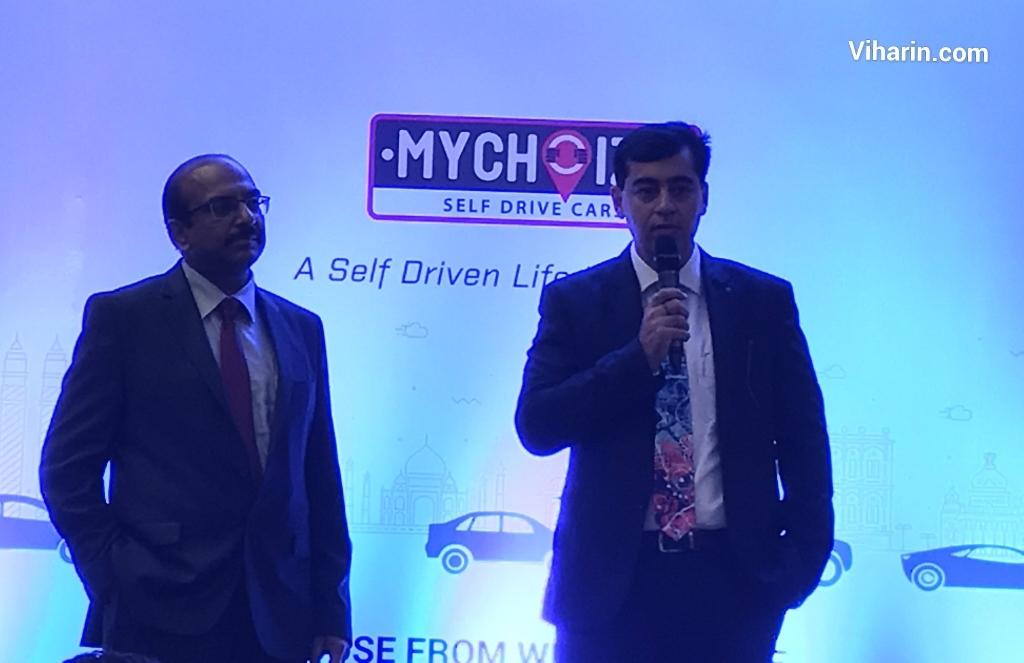 Mr. Sandeep Gambhir and Mr. Pankaj Jain (Right to Left) speaking on MyChoize