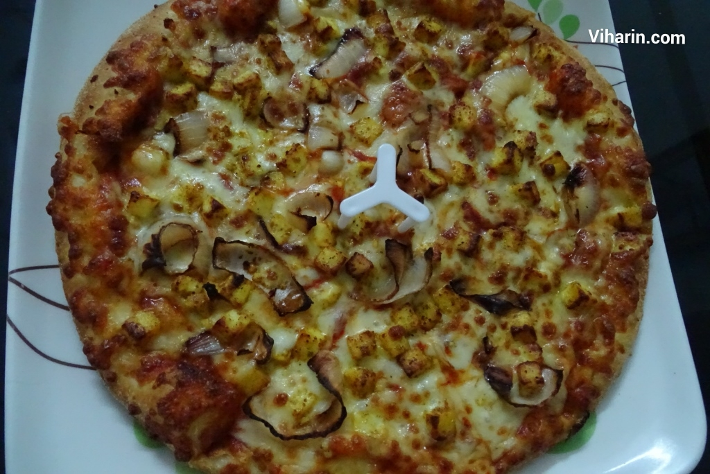 Paneer Onion Cheese Pizza from Dominos