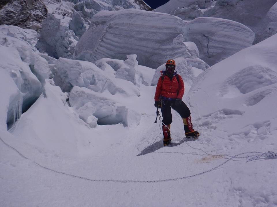 1st Khumbu Icefall near football field