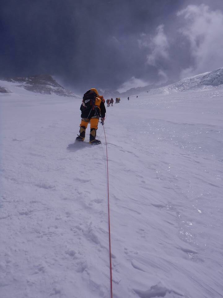 5th Lhotse face the most dangerous part going up to camp3 23,500 ft
