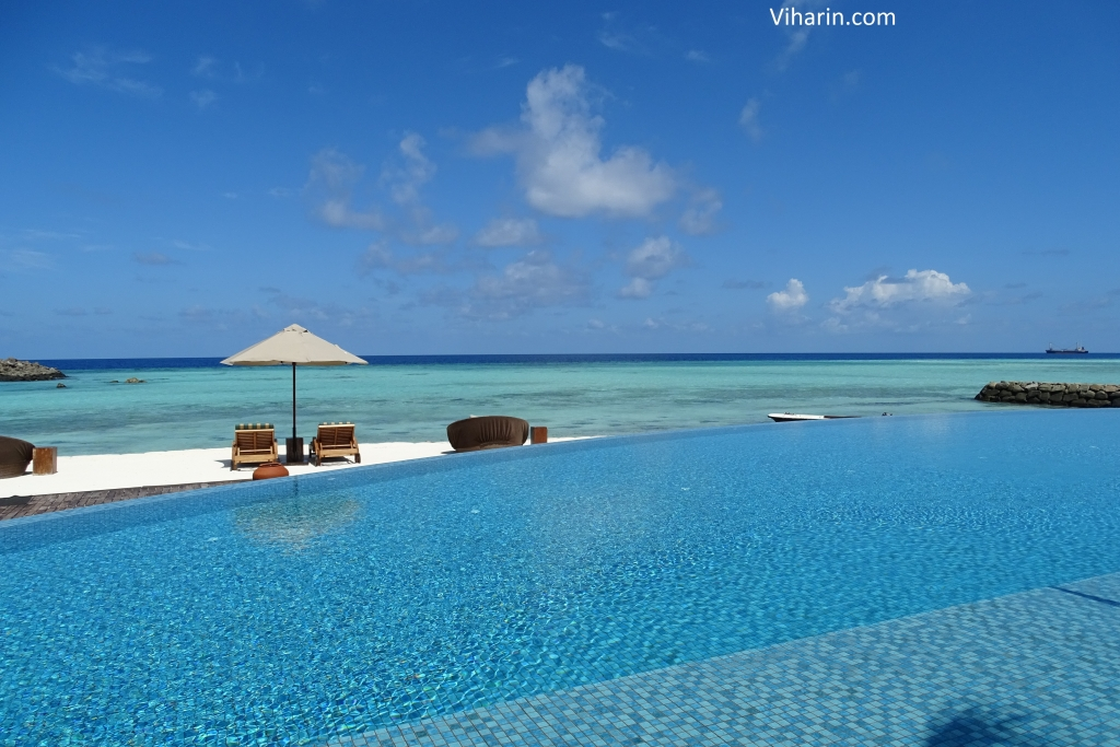 Viharin.com- View of Ocean from Swimming Pool