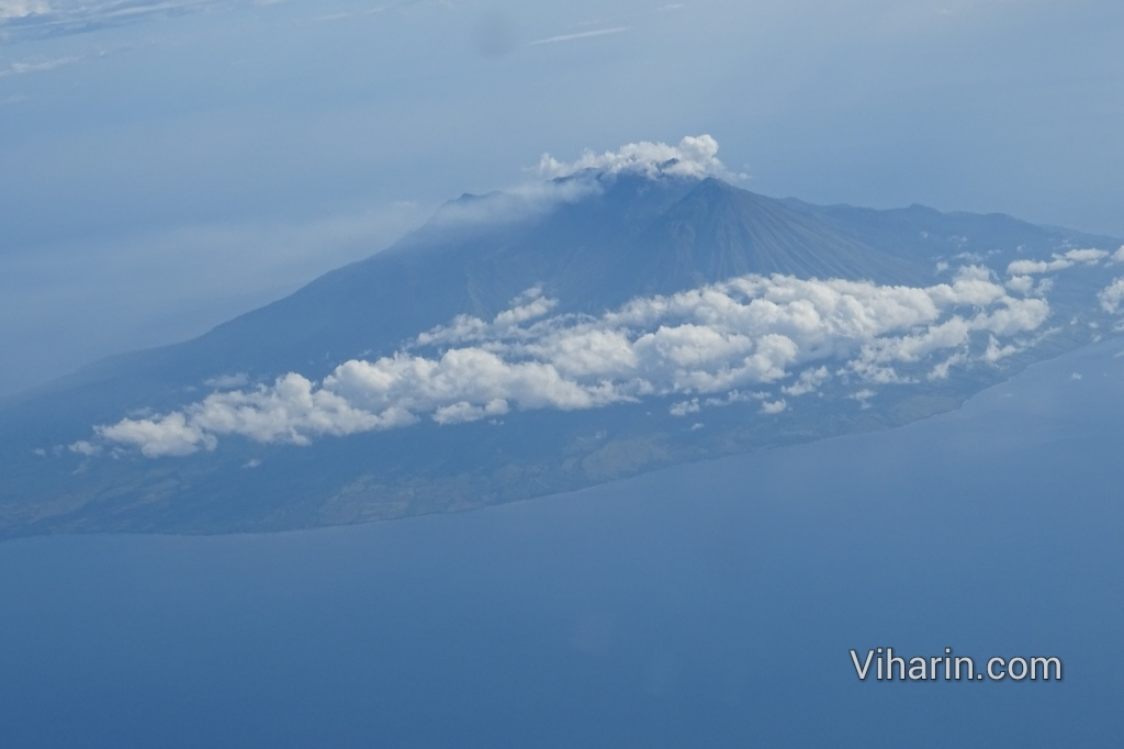 View of Mount. Agung as taken from the Aeroplane