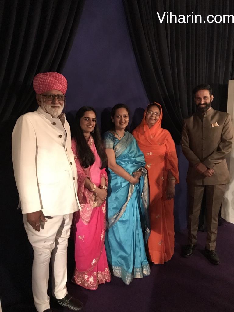 (L-R) Rao Saheb Laxman Singh Ji , Daughter inlaw Princess Baisa Vijeta Singh Shekhawat, Nidhi KM - Founder Director Viharin.com, Rani Sahib Gajendra Kumari And Kunwar Akshraj Jodha