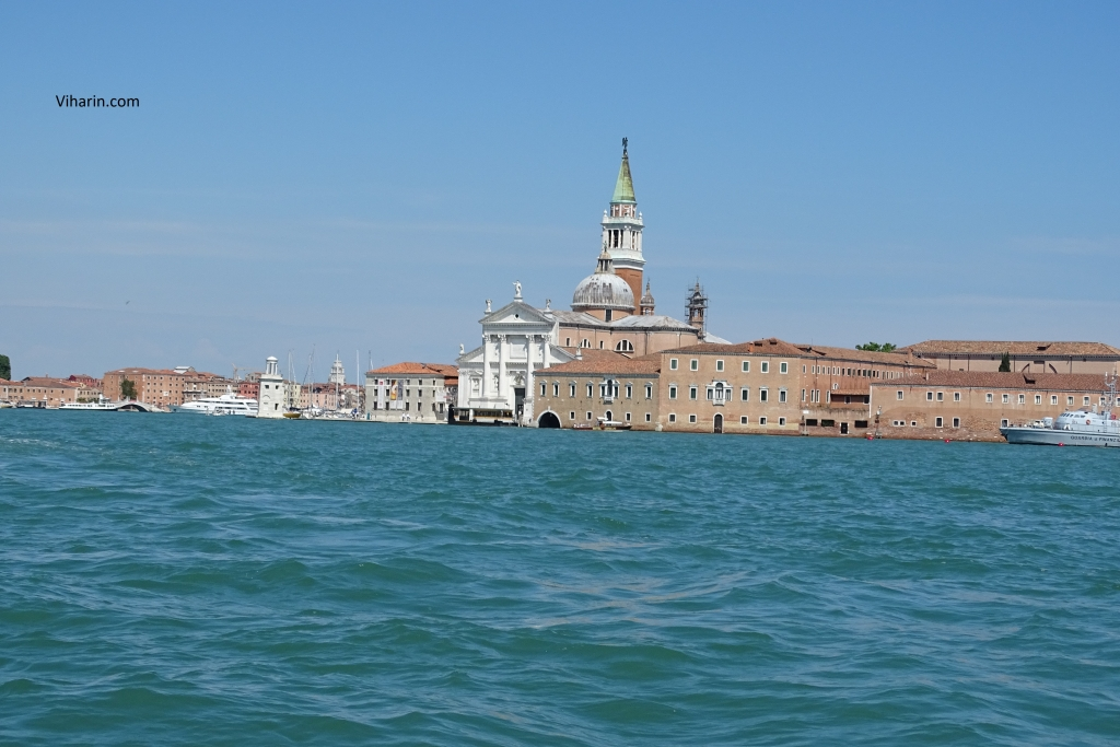 View of Venice from the boat