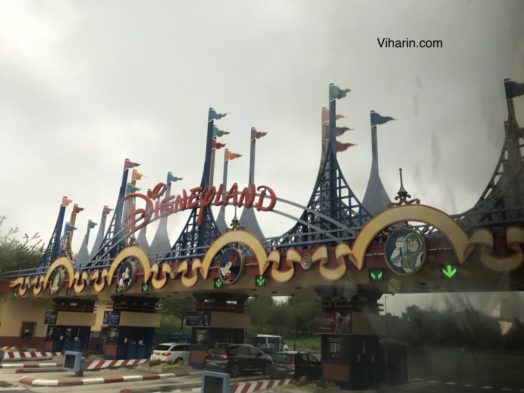 View of Disneyland Paris from our bus