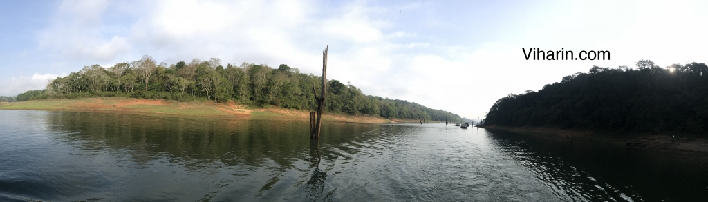 Panoramic view Photo credits Periyar Tiger Reserve Boat Safari guide