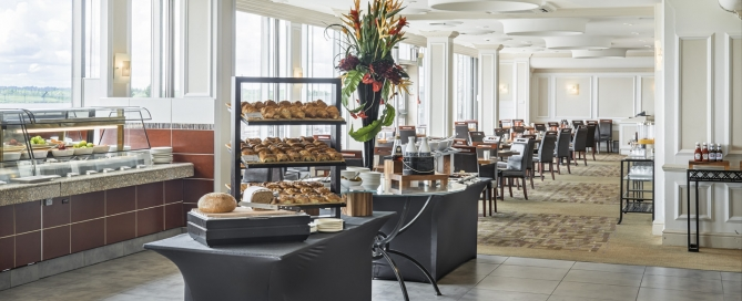 Breakfast Display Picture courtesy Thistle London Heathrow