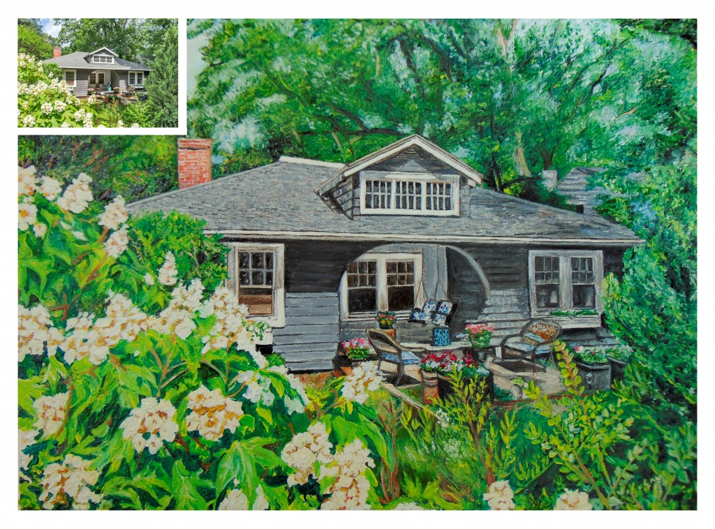 Green house oil painting by Portrait Flip
