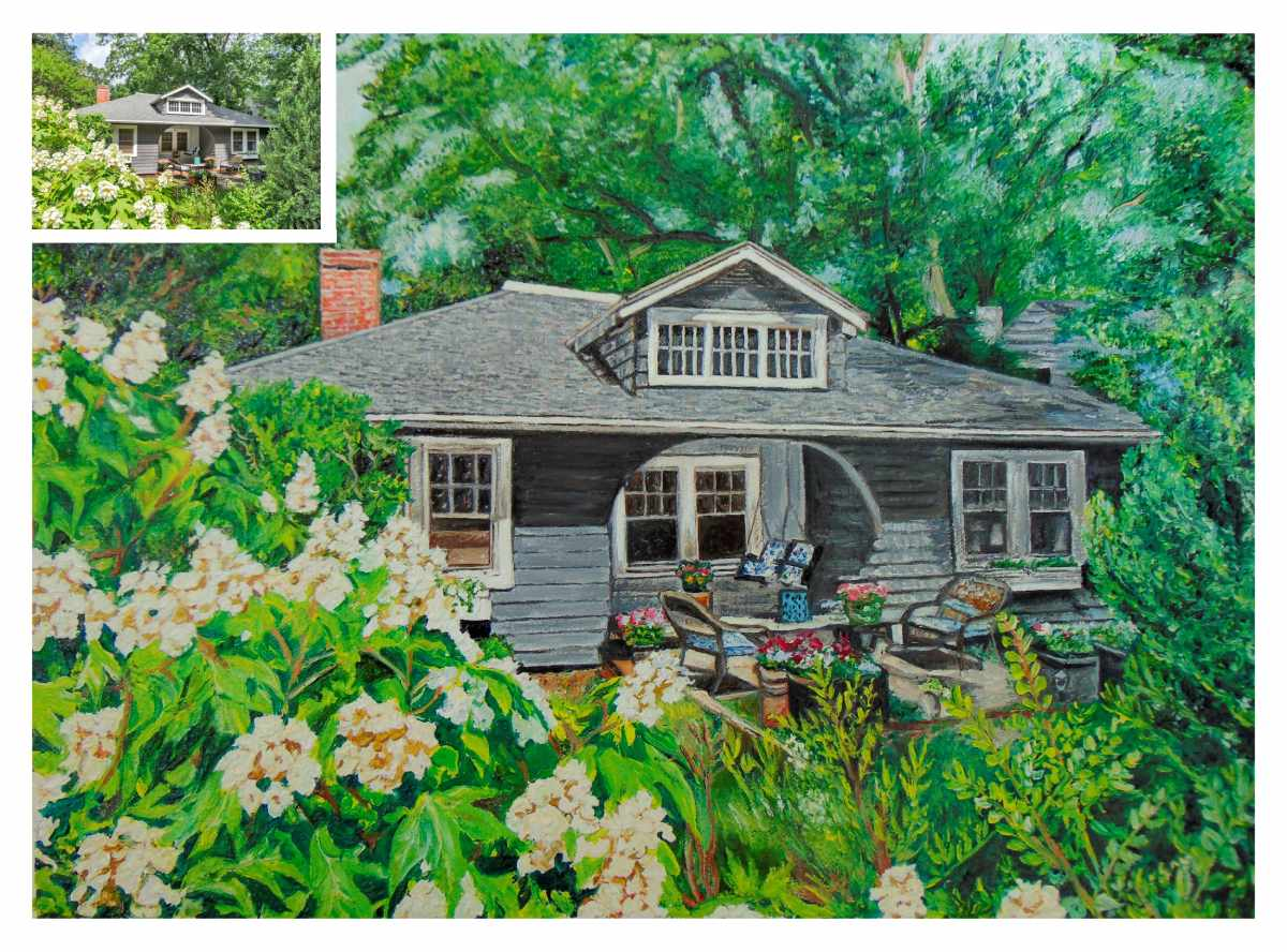 green-house-oil-painting